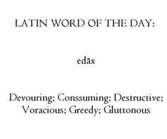 Edax--good base for a dragon name! Latin Quotes, Latin Phrases, Latin Words, New Words, Words Quotes, Unusual Words, Rare Words, Unique Words, Cool Words