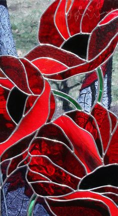 Red Poppies In Flanders Fields Stained Glass by stainedglassturtle Stained Glass Panels, Stained Glass Art, Memorial Day Poppies, Flanders Field, Red Poppies, Fields, Orchids, Poppy, Handmade Gifts