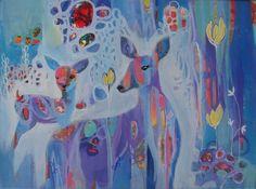 'I'm still here' Acrylic on canvas Sold #donnamunro #bloomtrue