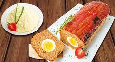 Meatloaf recheado com ovos