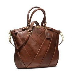 Coach :: Madison Diagonal Pleated Exotic Lindsey Satchel ...I'm a sucker for a lovely leather purse.