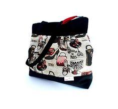 Black and burgundy ladies shoulder-bag, French style sholuder-bag, Women's bag, Boho bag, Everyday handbag, Easter gifts, Birthday gifts