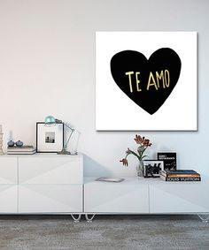 Look at this 'Te Amo' Canvas on #zulily today!