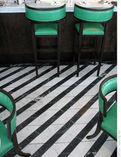 Beautiful and charming.  Diagonal-Stripe-Painted-Wood-Floor.jpg (308×400)