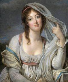 The Athenaeum - Portrait Of Madame Van Westrenen Of Tremaat (Jean-Baptiste Greuze - )