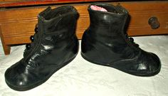 Victorian Edwardian Baby Shoes Boots Black High Button Zulick First Steps