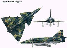 Sweden / SAAB J.37 Viggen / SF.37 / Unit: F13 Bravalla Flygflottilj : Serial: 13/02