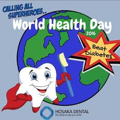Today is WORLD HEALTH DAY! Beat Diabetes and Gum Disease! #WHD2016 #WHD @worldhealthorganization #beatdiabetes #worldhealthday #who #dcdentist #invisalign #braces #familydentistry #rootcanal #teethcleaning #chevychasedentist #painless #marylanddental #cosmeticdentistry #hygiene #diabetes #NCDs #BeatNCDs by hosakadental Our Cosmetic Dentistry Page: http://www.myimagedental.com/services/cosmetic-dentistry/ Google My Business: https://plus.google.com/ImageDentalStockton/about Our Yelp Page…