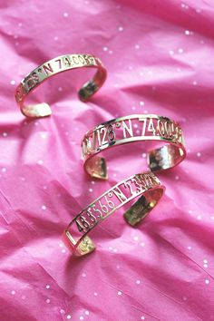 Sparkle and shine with these Coordinates Collection bracelets.