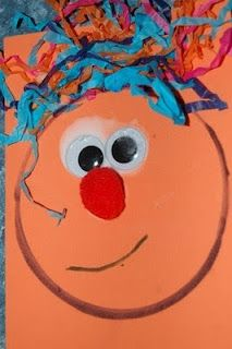 The Active Toddler: Toddler Craft - Funny Faces