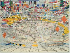 Paintings by Julie Mehretu: http://www.mariangoodman.com/artists/julie-mehretu/