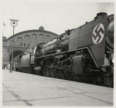 Berlin 1936 Lokomotive der Deutschen Reichsbahn am Anhalter Bahnhof