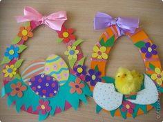 поделки Easter Art, Easter Crafts For Kids, Baby Crafts, Preschool Crafts, Diy Crafts Hacks, Diy And Crafts, Paper Crafts, Spring Activities, Easter Wreaths