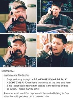 Supernatural fandom | Dean and Bobby. That last one though. EESshh.. That could get really weird really fast, OR Destiel could suddenly become canon.