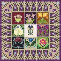 Art Nouveau Sampler 'Christiane patchjane'- is the name on the google+ album