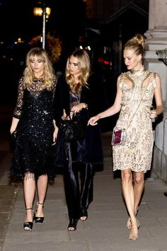 September 15 2014 | Suki Waterhouse, Cara Delevingne and Poppy... the ultimate trifecta....