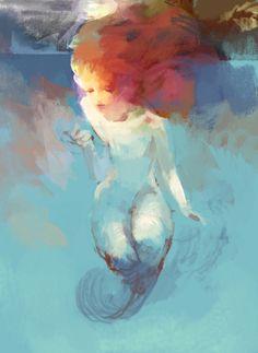 jazz-sparks: Mermaid by hoooook