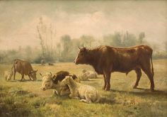 Repos du Bétail de Rosa Bonheur (1822-1899)
