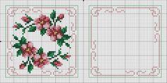 biscornu fleur rose . Mila_sha — «Бискорню цветочки.jpg» на Яндекс.Фотках