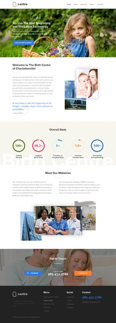 Birth Center Web Template