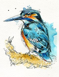 """Check out my newest painting, """"The Kingfisher"""", in my Etsy shop! :) $50.00"""