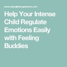 Help Your Intense Child Regulate Emotions Easily with Feeling Buddies