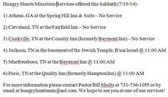 Services & times for this weekend!
