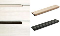 I love the leather handles trend but Madetomeasure have taken it up a notch - recessed leather handles!