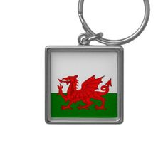 WALES Welsh Dragon Love Tattoo Keyring Keychain Key Stainless Steel