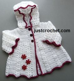 16 beautiful handmade baby gift sets with free crochet patterns free baby crochet pattern hooded coat usa s fandeluxe Images