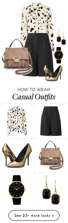 """casual meeting outfit"" by freshdee on Polyvore featuring SECOND FEMALE, ADAM, Pierre Balmain, Ivanka Trump, Larsson & Jennings, Nordstrom Rack, women's clothing, women's fashion, women and female"