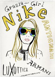 #nikeantignani  #graziaitaly  #graziafashion  #luxottica  #eyewear  #graziagirl #armani