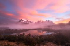 Misty, Magic Morning - A stunning rising sun @ Patagonia - Chile Amazing Photography, Nature Photography, Visit Chile, Torres Del Paine National Park, Mother Pictures, Landscape Photos, Photo Contest, Pretty Pictures, Beautiful World