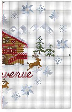 Winter Lodge 3 of 4 Cross Stitch House, Just Cross Stitch, Cross Stitch Needles, Cross Stitch Heart, Cross Stitch Cards, Cross Stitch Borders, Cross Stitch Samplers, Cross Stitch Designs, Cross Stitching