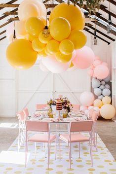 Cute party deco brunch party, party и diy par Brunch Decor, Brunch Table, Brunch Party, Brunch Ideas, Festa Party, Diy Party, Ideas Party, Theme Ideas, Decor Ideas