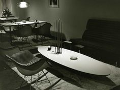 Gorgeous '60s Japanese Interiors by Eames and Herman Miller - http://www.wakuiworks.com/hermanmiller.html