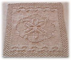 sanddollar knitted dishcloth