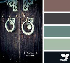 Door tones...Love those blue-greens.