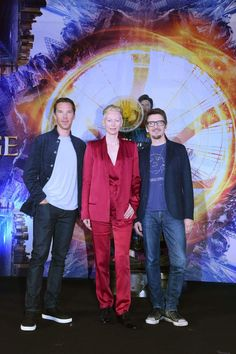 "Benedict + Tilda Swinton + Scott Derrickson - Marvel's ""Doctor Strange"" fan event"