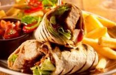 Crispy Chicken Wrap food-food-and-more-food Durham Restaurants, Crispy Chicken Wraps, Menu, Wrap Recipes, Catering, Food To Make, Ethnic Recipes, Wrap Food, Christening