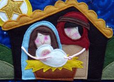 The NATIVITY Story Felt Finger Puppets Sewing by LindyJDesign