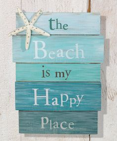 Look at this 'Beach Is My Happy Place' Hanging Sign on #zulily today!