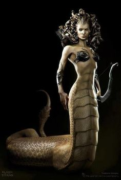 Close to what I pictured my gorgon to look like minus the snake hair, and it being Medusa, in Until Kiss Do Us Part.