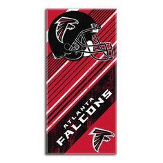 Atlanta Falcons NFL Fiber Reactive Beach Towel (Diagonal Series) (28in x 58in)