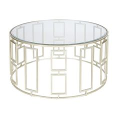 Worlds Away Jenny Silver Leafed Coffee Table - Matthew Izzo Home