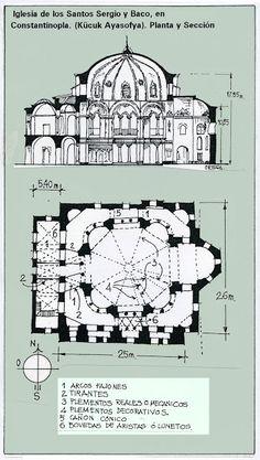Iglesia San Sergio y San Baco Byzantine Architecture, Church Architecture, Classic Architecture, Historical Architecture, Ancient Greek City, Byzantine Art, Early Christian, Kirchen, Cathedral