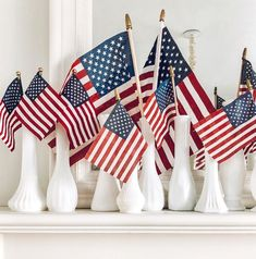 Fourth of July Mantel ~ LeCultivateur Fourth Of July Decor, 4th Of July Decorations, 4th Of July Party, July 4th, 4th Of July Wreath, Americana Decorations, Happy Fourth Of July, Holiday Decorations, Seasonal Decor