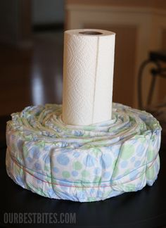 How To: Make a Diaper Cake Centerpiece | Our Best Bites