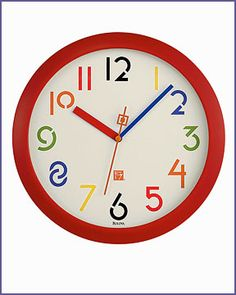 Frank Lloyd Wright Exhibition Typeface Wall Clock Red