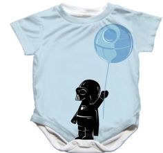 (24) Fancy - Adorable Handmade Star Wars Darth Vader Onesie For babies